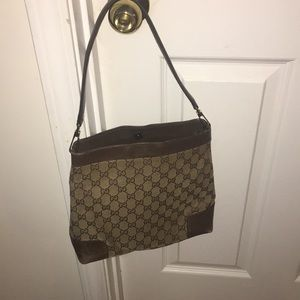 Authentic Gucci GG Canvas Shoulder Bag